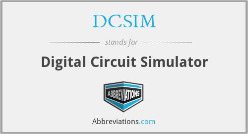 DCSIM - Digital Circuit Simulator