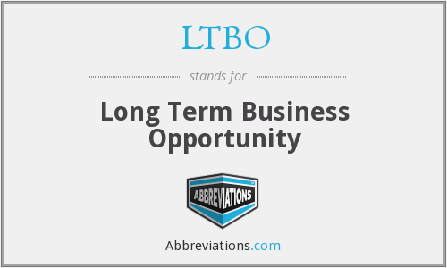 What does LTBO stand for?