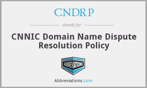 What does CNDRP stand for?
