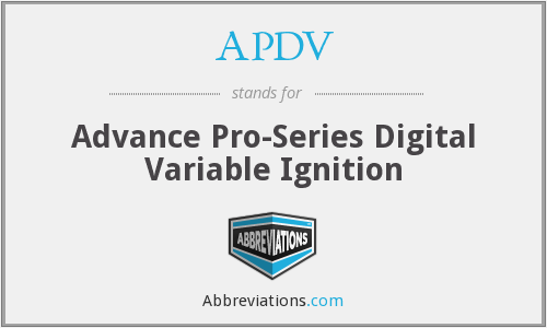 APDV - Advance Pro-Series Digital Variable Ignition