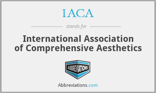 IACA - International Association of Comprehensive Aesthetics