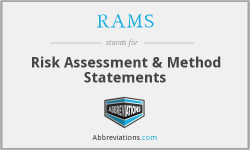 RAMS - Risk Assessment & Method Statements