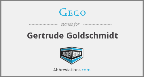 What does GEGO stand for?