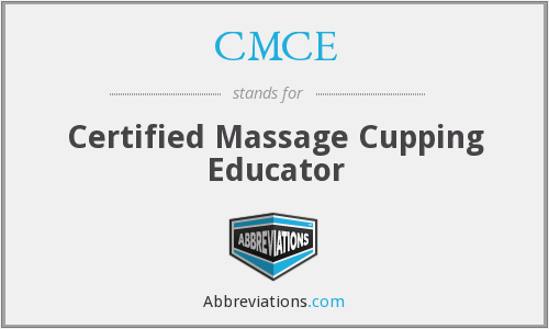 CMCE - Certified Massage Cupping Educator