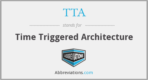 TTA - Time Triggered Architecture