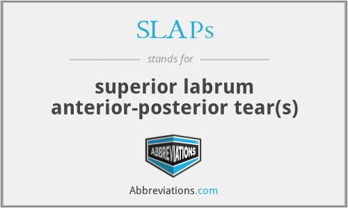 SLAPs - superior labrum anterior-posterior tear(s)