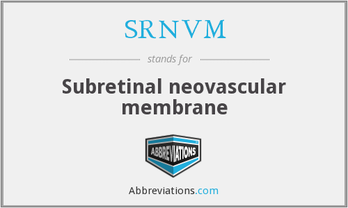 What does SRNVM stand for?