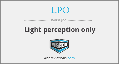 LPO - Light perception only
