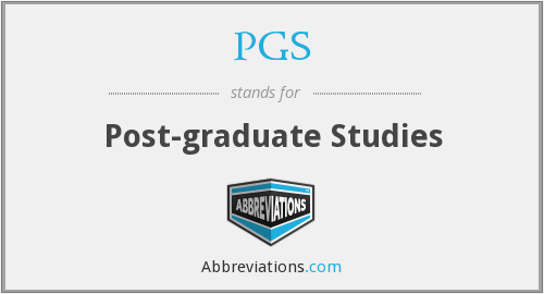PGS - Post-graduate Studies