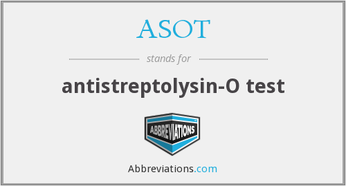 ASOT - antistreptolysin-O test