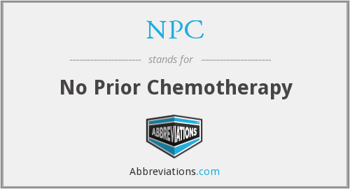 NPC - no prior chemotherapy