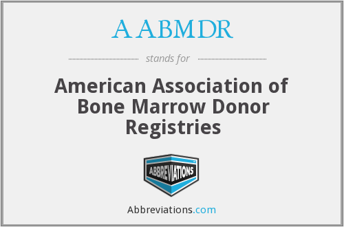 AABMDR - American Association of Bone Marrow Donor Registries