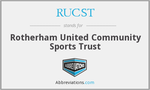 RUCST - Rotherham United Community Sports Trust