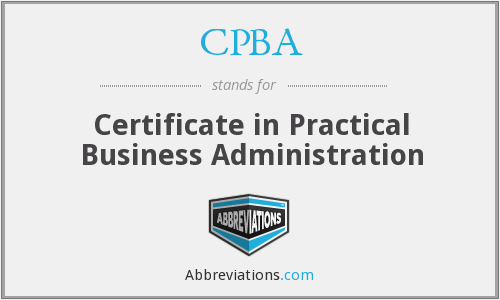 CPBA - Certificate in Practical Business Administration