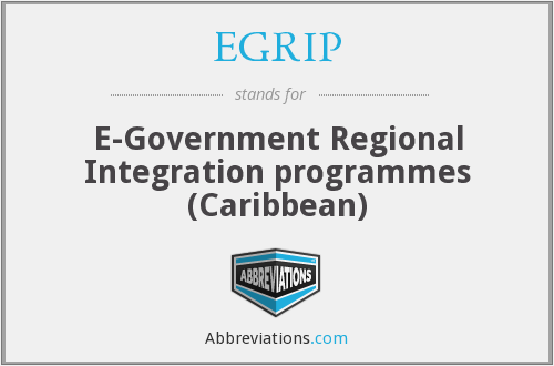 EGRIP - E-Government Regional Integration programmes (Caribbean)