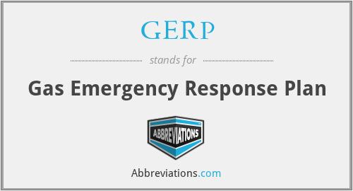 GERP - Gas Emergency Response Plan