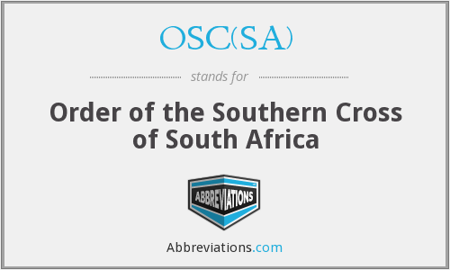 OSC(SA) - Order of the Southern Cross of South Africa