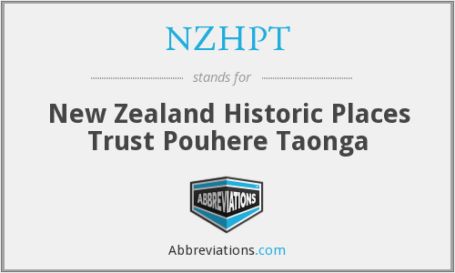 NZHPT - New Zealand Historic Places Trust Pouhere Taonga
