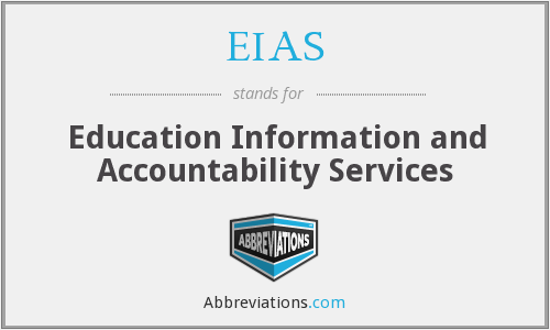 EIAS - Education Information and Accountability Services