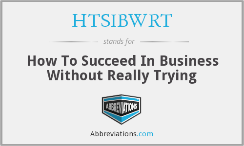 What does HTSIBWRT stand for?