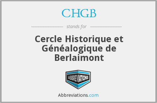 CHGB - Cercle Historique et Généalogique de Berlaimont