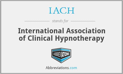 IACH - International Association of Clinical Hypnotherapy