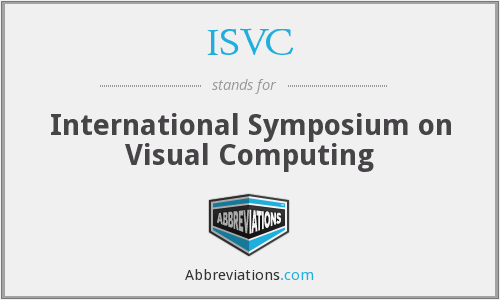 ISVC - International Symposium on Visual Computing