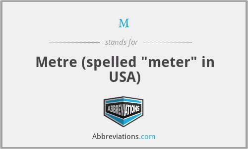 m - Metre (spelled