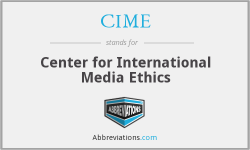 CIME - Center for International Media Ethics