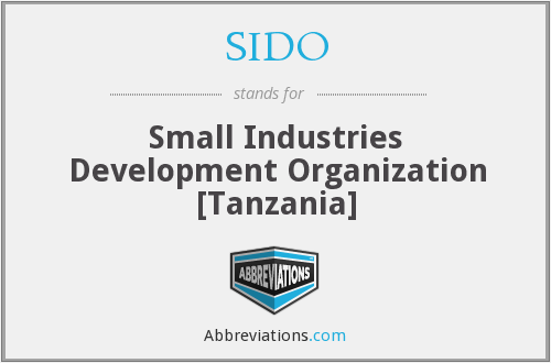 SIDO - Small Industries Development Organization [Tanzania]