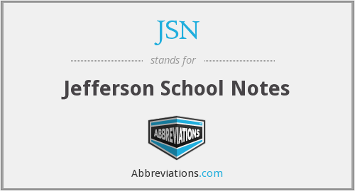 JSN - Jefferson School Notes