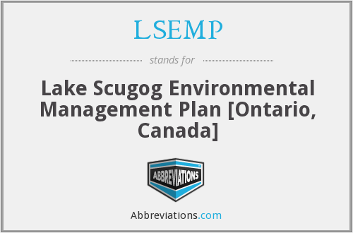 LSEMP - Lake Scugog Environmental Management Plan [Ontario, Canada]