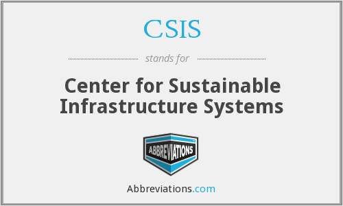 CSIS - Center for Sustainable Infrastructure Systems