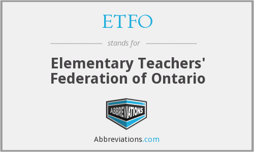 ETFO - Elementary Teachers' Federation of Ontario