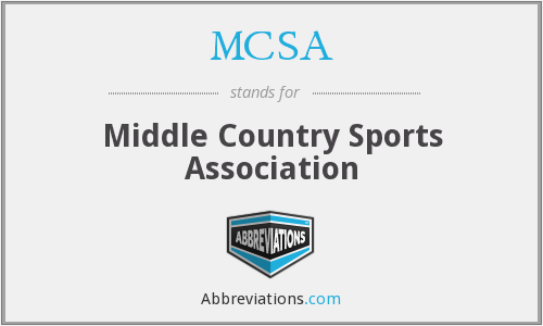 MCSA - Middle Country Sports Association