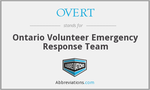 OVERT - Ontario Volunteer Emergency Response Team