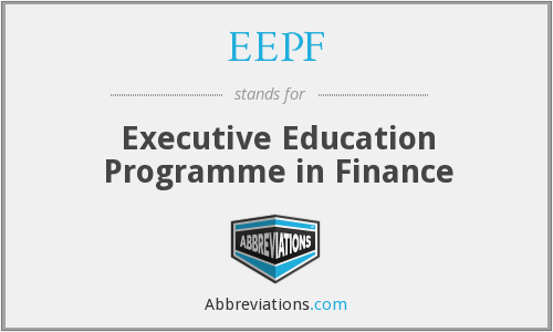 EEPF - Executive Education Programme in Finance