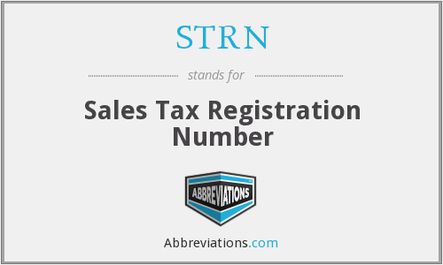 STRN - Sales Tax Registration Number