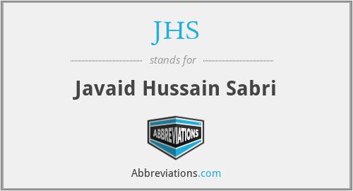 JHS - Javaid Hussain Sabri