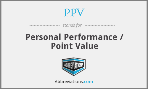 PPV - Personal Performance / Point Value