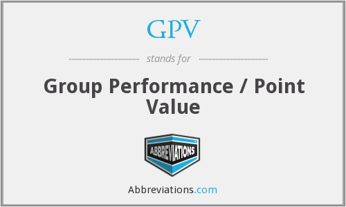 GPV - Group Performance / Point Value