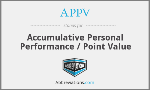 APPV - Accumulative Personal Performance / Point Value