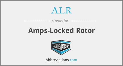 ALR - Amps-Locked Rotor