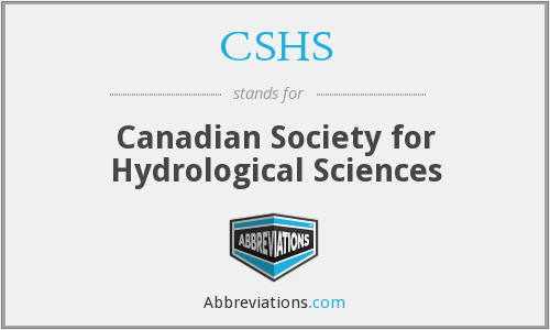 CSHS - Canadian Society for Hydrological Sciences