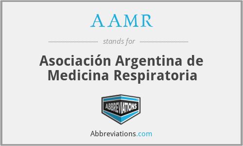AAMR - Asociación Argentina de Medicina Respiratoria