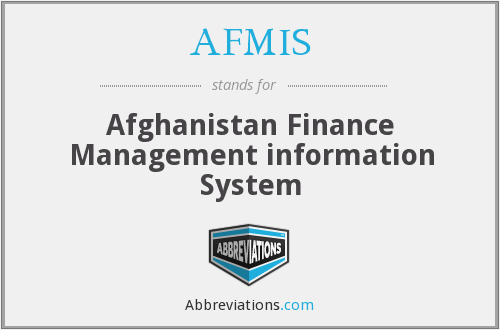 AFMIS - Afghanistan Finance Management information System