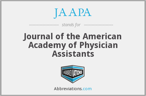JAAPA - Journal of the American Academy of Physician Assistants