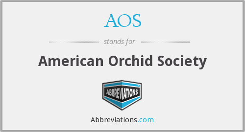 AOS - American Orchid Society