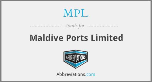 MPL - Maldive Ports Limited