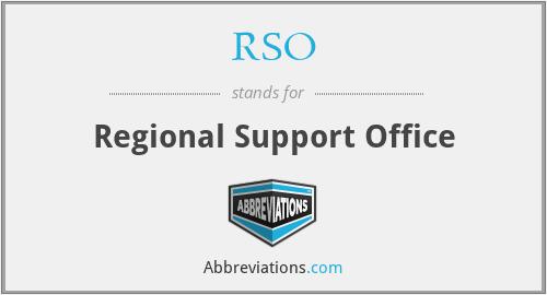 RSO - Regional Support Office